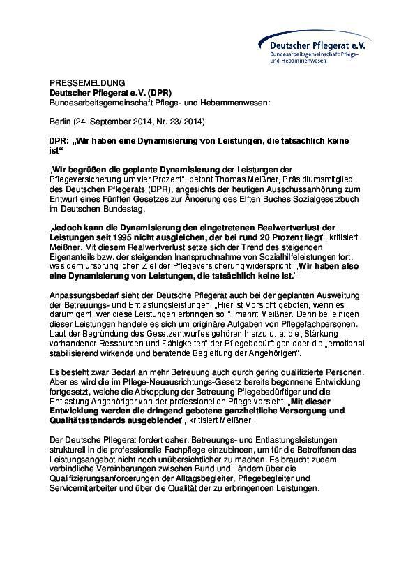 Landespflegerat Sachsen-Anhalt: Mitteilung
